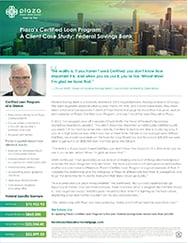 Federal Savings Bank Certified Case Study